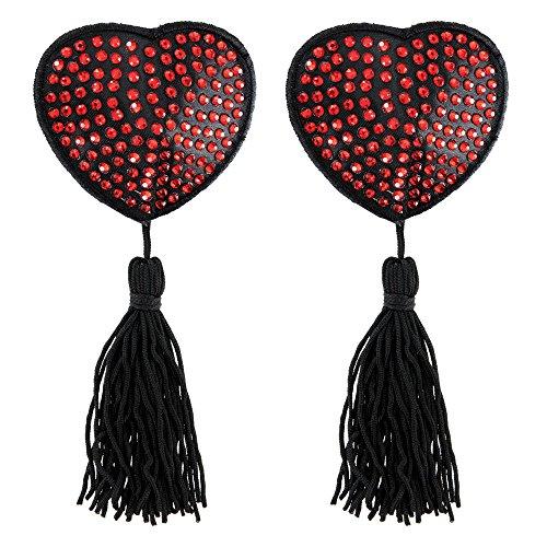 Paris Hollywood Pezoneras Corazón con Brillantes - 2 Piezas