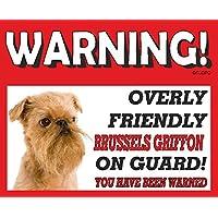 Bruxelles Griffon (Oro) Cane da guardia Targa in metallo 10FL OZ lavastoviglie prova 50