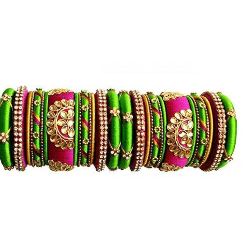 Bollywood fashion silky thready jhumki /& Bangles 2-10