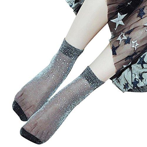 ITISME Socken Frauen Mode Transparent SchöNe Strass Kristall Kurze Sockeninliner Inlineskater 151Er Und StrüMpfe Reiten FußBall