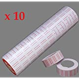 SystemsEleven 10 X Rolls Label FOR MX5500 ONE LINE PRICING GUN TAG MARK STICKER LABELLER