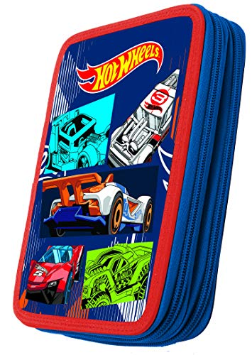 Hot Wheels Pencil Case - Double Decker (Filled) - Schulmäppchen - trousse a Crayons - astuccio - plumier 349-24100