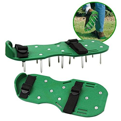 nicebuty Schuhe Belüftungsset-Rasen Garten Sandale mit Schnallen aus Nylon und 2Gurte für die Belüftung Ihres Rasen oder Ihres Garten