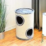 bontoy gato Torre Buddy con 2Cavernas gris/natural 58cm