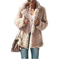 MEIbax Damen Plüschjacke Einfarbig Sexy Parka Kunstpelz Fleecemantel Winterjacke Warm Outwear Jacke