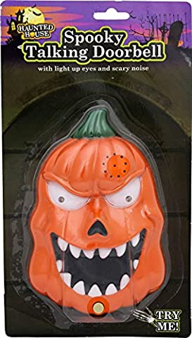 Haunted House Spooky Talking Halloween Doorbell With Lights Sounds And Surprise Spider ~ Evil