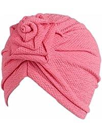 3085adc683fa Tpulling Bonnet Bebe, Enfants bébé Filles Bohème Chapeau écharpe Bonnet  Foulard Turban tête ...