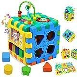 Wishtime Cube d'Activités Ludiques Jouet Educatif Early Jouet éducatif 6 dans 1...