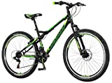breluxx 26 Zoll Mountainbike Hardtail Venera Sport Vortex Green 18 Gang Shimano, Scheibenbremse Frontfederung MTB, inkl. Schutzbleche + Reflektoren, Modell 2019