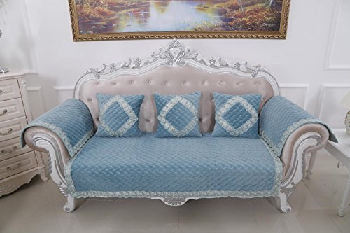 AISHUAIGE HUANZI 2 Seater Sofabezug Loveseat Schutzhülle klassischen Couch Abdeckung Settee Protector einfarbig, 90 * 210 -