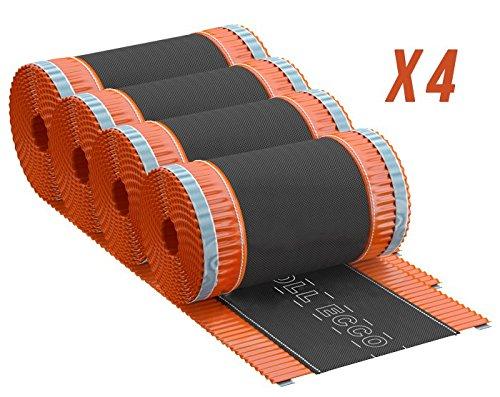Closoirs de faîtage souples ventilés en aluminium ROLL ECCO 310 mmx5Ml - (LOT DE 4)