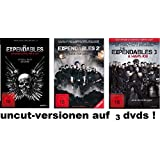 The Expendables 1-3 Extended, uncut, 5 dvds, Special Edition, dvd Film Set