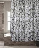 Schimmelresistenter Wasserabweisender Textil Duschvorhang für die Badewanne mit Digitaldruck, inkl. 12 Duschvorhangringe passend für jede Duschvorhangstange - Verschönert jedes Badezimmer mit tollen Motiven in der Größe 180 x 180 cm (Steine)