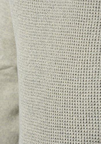 BLEND Gandolf Herren Strickpullover Feinstrick Pulli mit Rundhals-Ausschnitt aus 100% Baumwolle Meliert Stone Mix (70813)