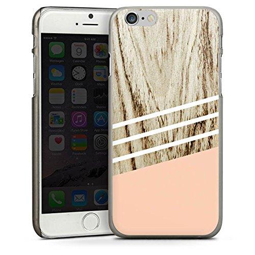 Apple iPhone 5 Housse étui coque protection Look bois Pastel Printemps CasDur anthracite clair