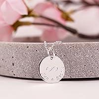 My Heart...Personalisierte Namenskette, 925er Silberkette mit Gravur, Kette mit Gravur