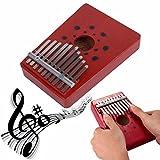 Pouce Piano, Everesta Professional Portable musical 10 touches Kalimba Mbira pouce Piano Instrument pour amateurs de musique et débutant (rouge)