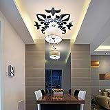 Berrose-Kreativ Abstrakt Acryl Stil 3D Wandaufkleber Spiegeldecke Wandspiegel- wandaufkleber, Spiegel Aufkleber kreative abstrakte acryl Stil Decke wandspiegel Aufkleber