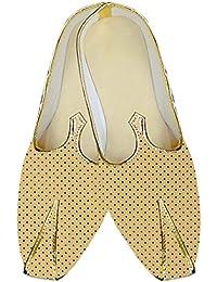 INMONARCH Hombres Boda Zapatos Estrellas Amarillas Impreso MJ015264