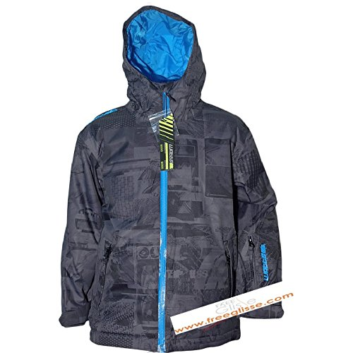 Jacke Skifahren junge WATT Kold grau/blau - 10 Jahre
