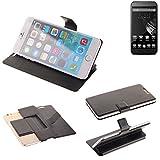 K-S-Trade Schutz Hülle für Homtom HT6 Schutzhülle Flip Cover Handy Wallet Case Slim Handyhülle bookstyle schwarz