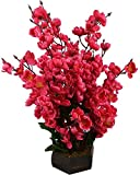 Hyperboles Red Blossom Artificial Flower with Pot