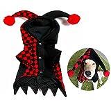 Vêtements de clown stéréoscopiques pour animaux de compagnie de Noël, Vêtements pour chiens de compagnie,Manteaux de chien chandails à capuchon (L)