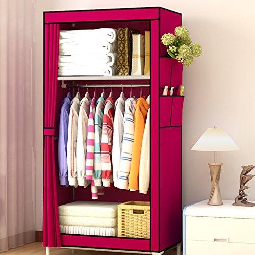 YWXG Einfacher Kleiderschrank Einzel-Schlafsaal Kleiner Kleiderschrank Montiert Kleiderschrank...