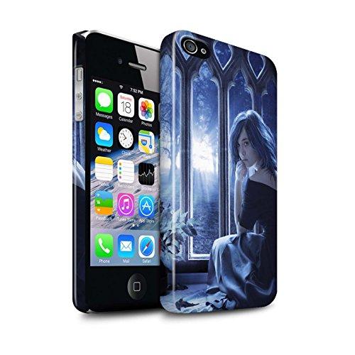 Officiel Elena Dudina Coque / Clipser Brillant Etui pour Apple iPhone 4/4S / Coeur flamboyant Design / Art Amour Collection Feuilles séchées