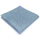 Shlax&Wing Neu Mode Herren Seide Krawatte Blau Einfarbig Extra lang