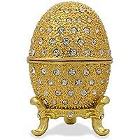 2.5200cristalli oro Tone Faberge stile russo Uova di (Smalto Jeweled Trinket)