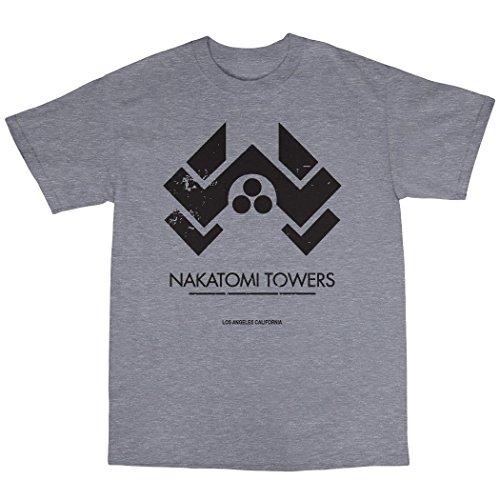 Nakatomi Towers T-Shirt Baumwolle Grau