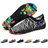 Upstartech Barefoot Water Shoes Mens Womens Quick Dry Unisex Sports Aqua Shoes Lightweight Durable Sole For Beach Pool Sand Swim Surf Yoga Water Exercise (4UK/37EU, Style 3)