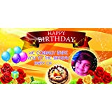 Personalized (SOL) Birthday Party Flex Banner with Birthday Boy/Girl Name and Photo - 8FT X 4FT