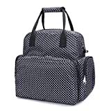 Vismiintrend 5 in 1 Polka Dots Waterproof Stylish Babies Diaper Bags for Mothers