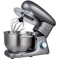 Cookmii 1500W Robot Pâtissier Petrin Multifonction,Robot Cuisine avec Bol 5,5L Gris