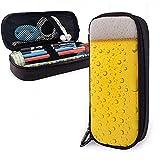 Federmäppchen Wassertropfen Bier Blase PU Ledertasche Aufbewahrungsbeutel Tragbare Bleistiftbeutel Reißverschluss Geldbörsen