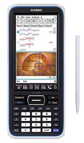 Casio ClassPad II FX-CP400+E Grafikrechner (V.P.A.M., über 65.000 Farben, Hintergrundbeleuchtung,  Touchscreen & Stiftbedienung, Pinch In/Out (Finger-Zoom))