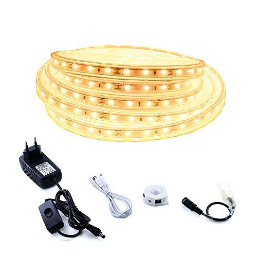 Tiras de luces LED con sensor de luz y movimiento de 5 metros marca LUXJET