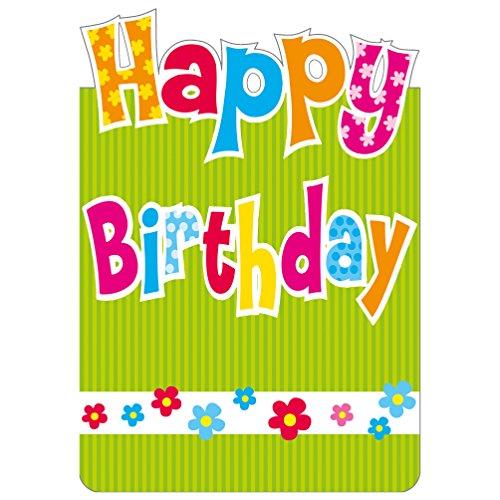 Susy Card Glückwunschkarte A5 Hoch, Happy Birthday, 1 Stück in Folie