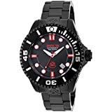 Invicta 19809 47mm Automatic Black Steel Bracelet & Case flame fusion Men's Watch