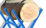 Cavalletto o morsa taglia legna fermatronco dentatato dimensione CM.100X88H taglialegna
