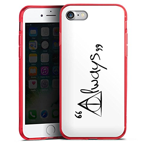 Apple iPhone 8 Silikon Hülle Case Schutzhülle Always Harry Potter Statement Silikon Colour Case rot