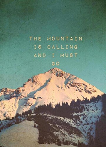 "JUNIQE® Leinwandbild 60x90cm Berge - Design ""Mountain Is Calling"" (Format: Hoch) - Leinwand,..."