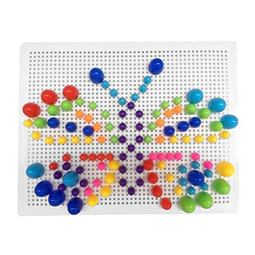 Fajiabao Plastica Giocattolo di Puzzle con Forma di Fungo Giocattoli di Costruzione Gioco per Bambini da 3 Anni in su, 318 Pezzi