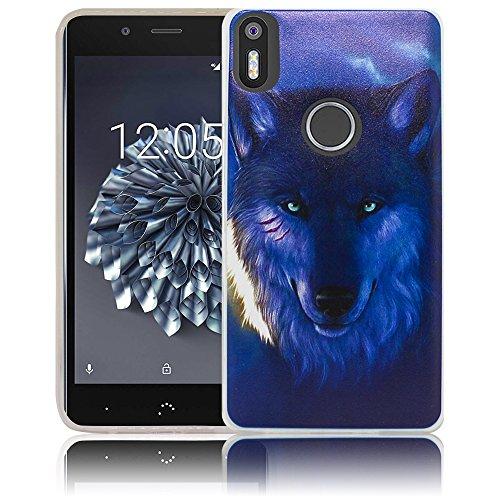 bq Aquaris X5 Plus Passend Nacht Wolf Handy-Hülle Silikon - staubdicht, stoßfest und leicht - Smartphone-Case