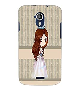 PrintDhaba Princess Doll D-3841 Back Case Cover for MICROMAX A116 CANVAS HD (Multi-Coloured)