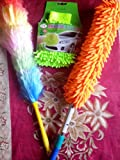 Good Quality Combo Multipurpose Microfiber Duster +Static Duster + Mitt Gloves Daily Cleaning