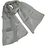 Beautiful silky style black & white spotty scarf or neckerchief