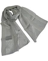 Schöne, seidigen Stoff, schwarz und weiß spotty Schal oder Halstuch